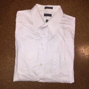 White Arrow sateen button down shirt!
